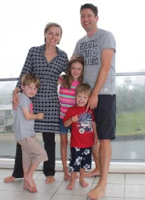 Sinead Forbes and family  in 2012.