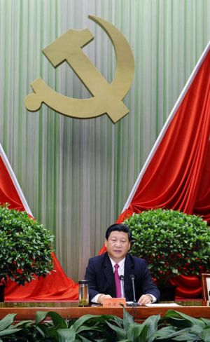 Rumours ... Chinese vice president Xi Jinping speaks at a Communist Party student function in Beijing on September 1.
