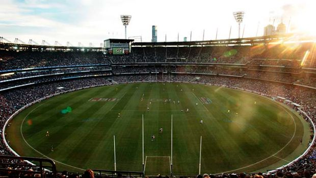 The preliminary final will begin in waning daylight...