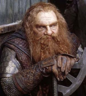 John Rhys-Davies in the <em>Lord of the Rings</em>.