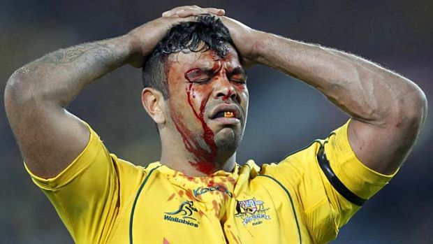 Painful … Kurtley Beale is no longer the potent weapon he used to be.