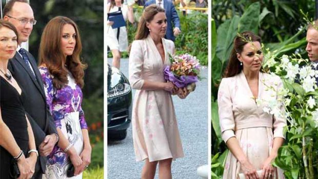 The Duchess' frocks seemed to have a bit of room around the stomach area, fuelling the baby rumour mill - although ...