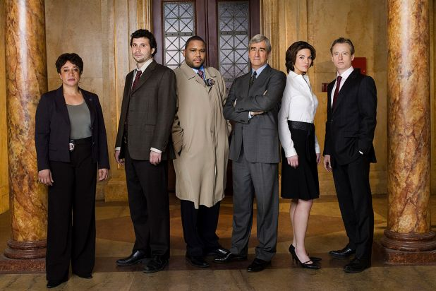 24. The cast of <i>Law &amp; Order</i>, which lasted 20 seasons and spawned a host of franchises.