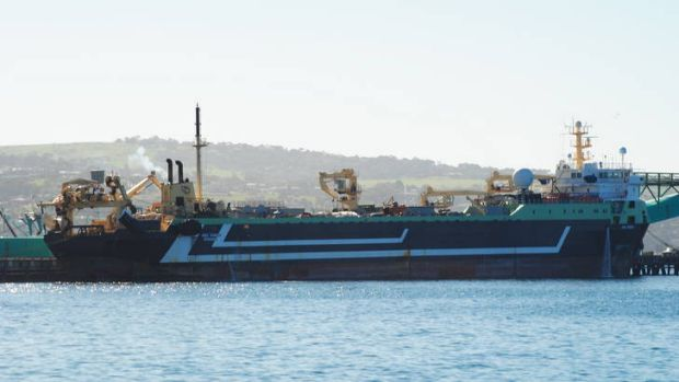 The super trawler Abel Tasman.