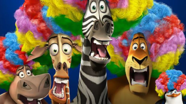 Together alone … <em>Madagascar 3</em>'s stars do their voice work separately.