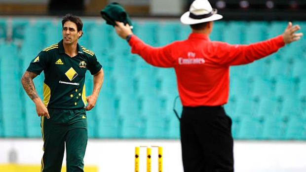 Australian bowler Mitchell Johnson has been known to expand the boundaries of what is commonly accepted as a 'legal' ...