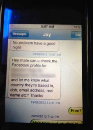 Part of text conversations between the alleged source X and his handler, said to be an ASIO officer. These conversations ...