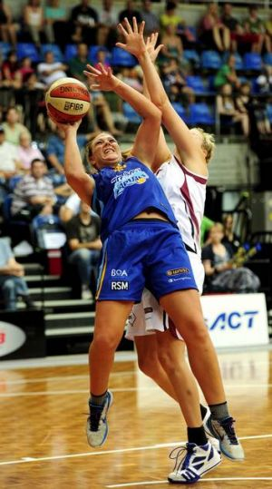 Canberra's Brigitte Ardossi will partner Jackson in the front court.