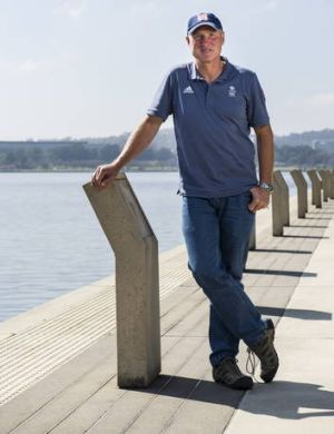 Team Great Britan Rowing Coach Paul Thompson back home in Canberra this week.