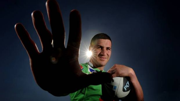 Raiders centre Joel Thompson is ready to face-off against Rabbitohs enforcer David Taylor.