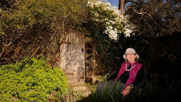 Trish Vardy in the walled garden at the Barn.
