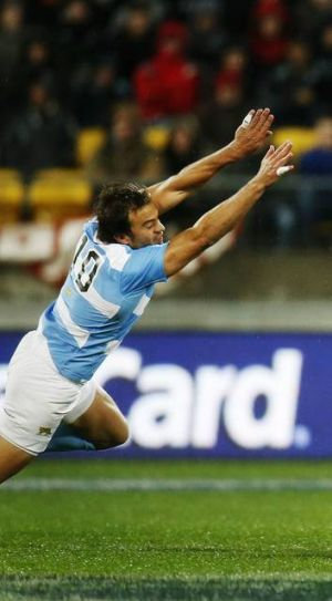 Argentina's first-rate five-eighth Juan Martin Hernandez in action.