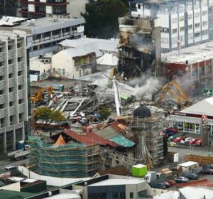 The aftermath ... rubble in place of the Canterbury Television building in Christchurch.