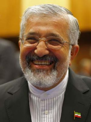 Sharp end ... Iran's nuclear envoy, Ali Asghar Soltanieh, is the public face of his country's highly controversial project.
