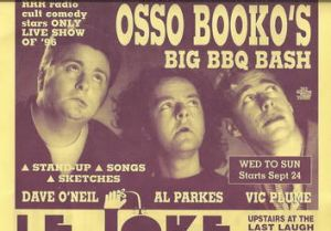 A poster for the Osso Booko show.