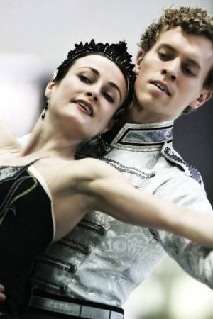 Odile and the prince: Amber Scott and Adam Bull.