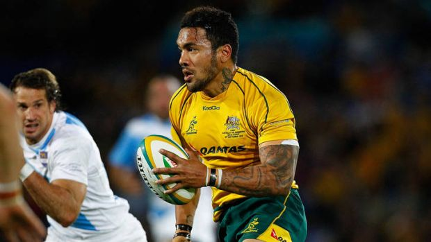 Dangerman ... Digby Ioane of Australia runs with the ball.