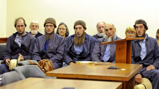 In court ... members of the Mullet family.