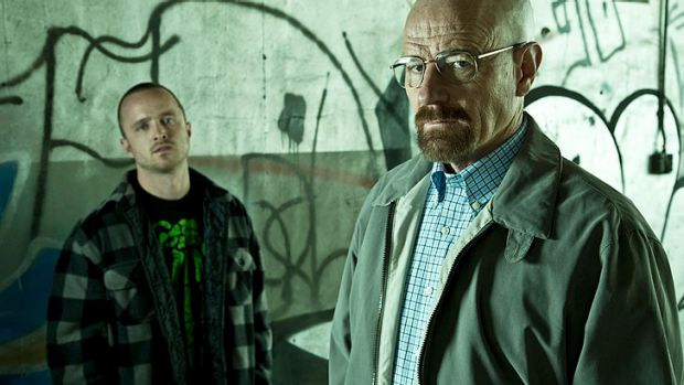 Dirty deeds: Jesse Pinkman (Aaron Paul) and Walter White (Bryan Cranston) are up to their usual tricks on <i>Breaking ...