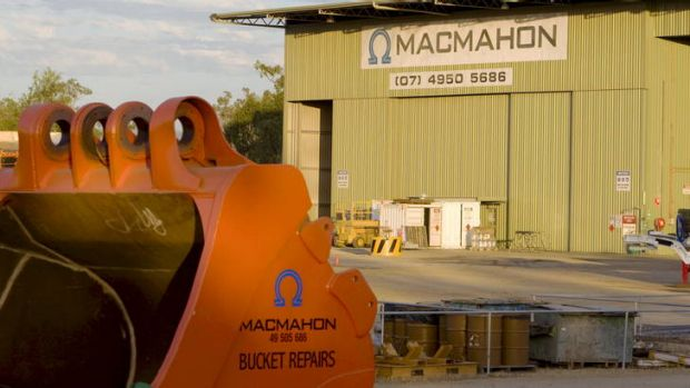 Macmahon Holdings shares fell 2.7 per cent on Tuesday.