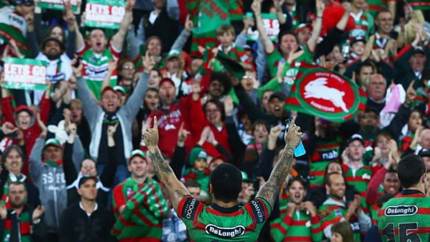 Rabbitohs fans ... expected to pack the ANZ Stadium on Saturday night.