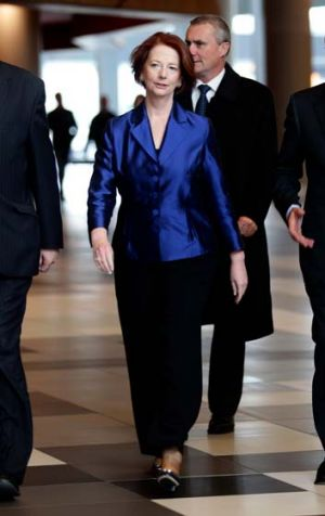 Clawing back ground against the Coalition ... Julia Gillard.