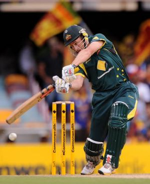 Out but not over: David Hussey.