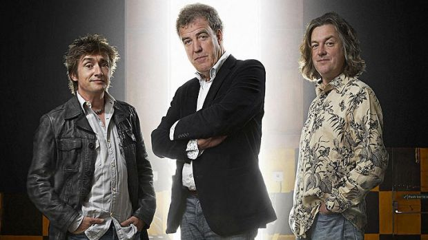 <i>Top Gear</i> presenters Richard Hammond, Jeremy Clarkson and James May.