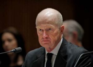Facing accusations of corruption ... Glenn Stevens.