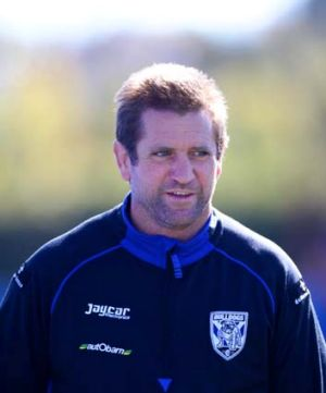 Out in front ... Des Hasler.