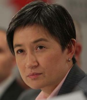 Conceded that Tony Abbott's ruling ensured that the gay marriage bills would be defeated ... Senator Penny Wong.