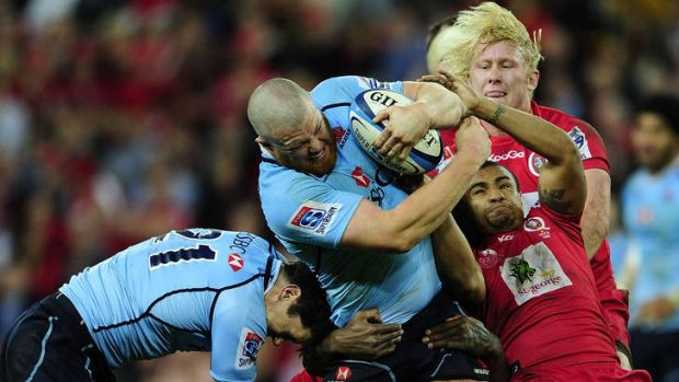 Paddy Ryan in action against the Queensland Reds.