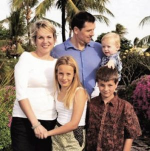 Family first … (from left) Tanya Plibersek, daughter Anna, husband Michael Coutts-Trotter and sons Louis and Joseph.