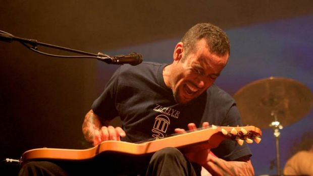 Ben Harper in 2011 at the 22nd Annual Byron Bay Blues & Roots Music festival.