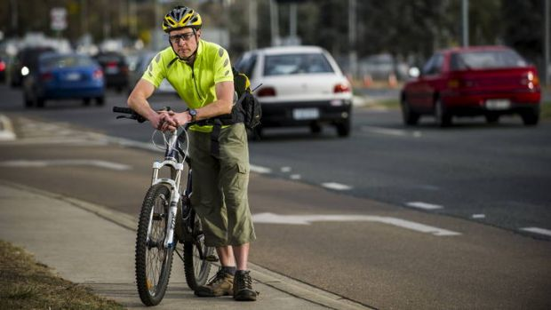 Robert Lang on Yamba Drive yesterday. The doctor has cancelled an annual Ride2Work Day event for the Canberra Hospital.