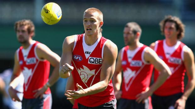Sam Reid at Sydney Swans training.