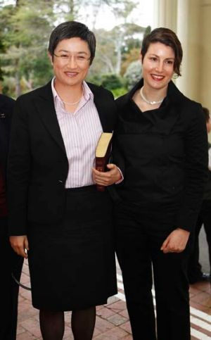 """I do not regret that our daughter has Sophie and I as parents"" ... Penny Wong, pictured with her partner Sophie Allouache."