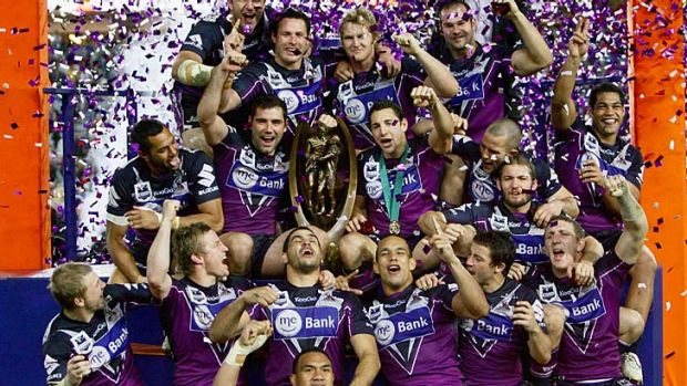 Fair and square? ... Melbourne Storm celebrate after winning the 2009 NRL Grand Final match against the Parramatta Eels.