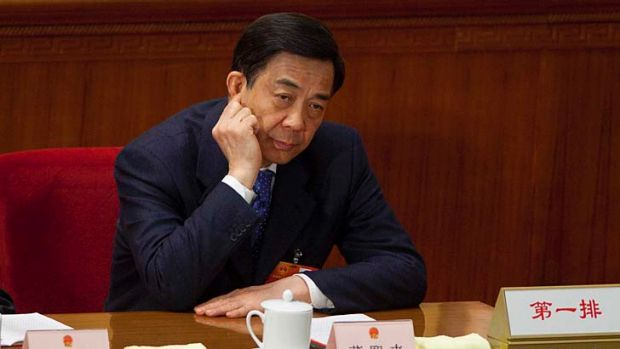 On trial: Bo Xilai.