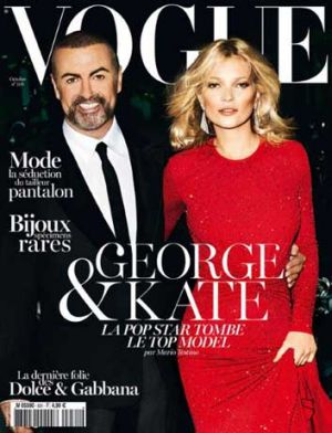Wham! George Michael and Kate Moss star on <i>Vogue</i> Paris' October issue.