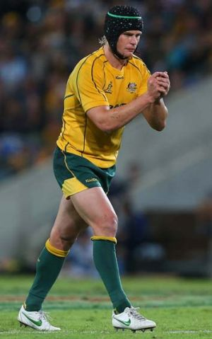 At the back ... Berrick Barnes is expected to be named at fullback for the Wallabies.