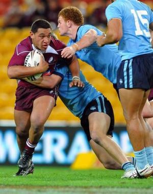 Josh Papalii playing for the Queensland under 18s in 2010.