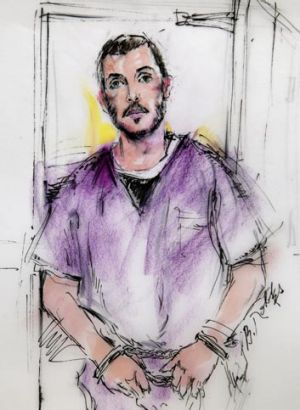 James Holmes has appeared in court charged over the cinema shootings.