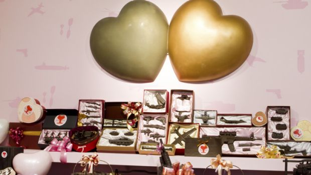 Bitter-sweet … Tu Wei-Cheng's <i>Happy Valentine's Day!!</i> portrays chocolates as weapons.