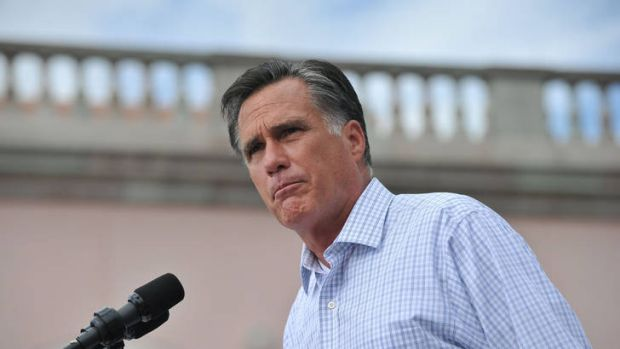 Not weathering the storm … Mitt Romney addresses a campaign rally in Sarasota, Florida. Frustrated Republicans say ...