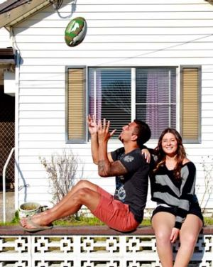 Stars ... Dylan Farrell and sister Katelyn, NRL Young Indigenous Learn Earn Legend Award nominee.
