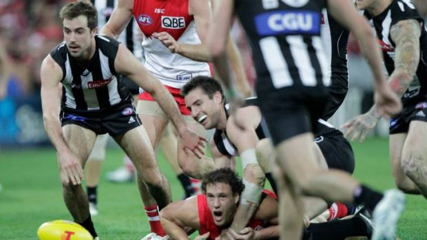Collingwood fell to a season-ending defeat against Sydney last night.