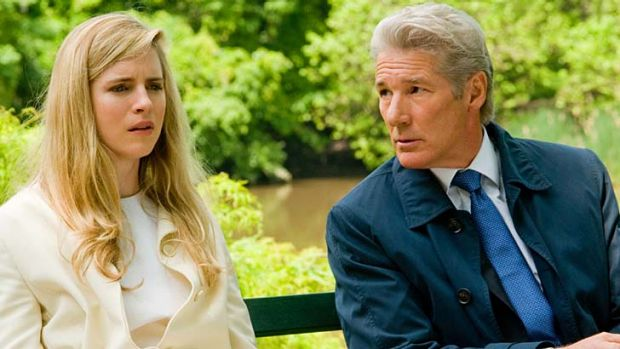 Sins of the father … Brit Marling and Richard Gere in <em>Arbitrage</em>.