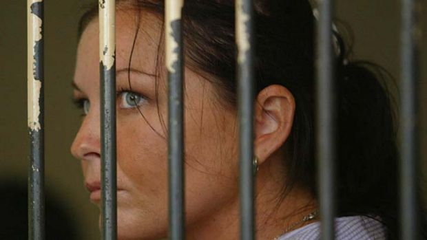 Schapelle Corby in jail. She was sentenced to 20 years in prison and has served 10.