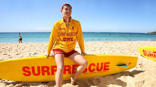 New recruit … Jack Yip, who grew up in Hong Kong, is a volunteer lifesaver at Coogee.